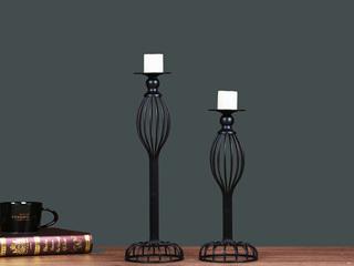 奢华创意复古怀旧金属欧式烛台