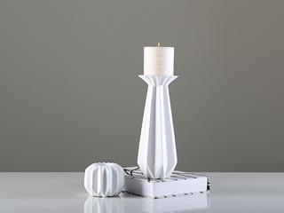 北欧白纸烛台