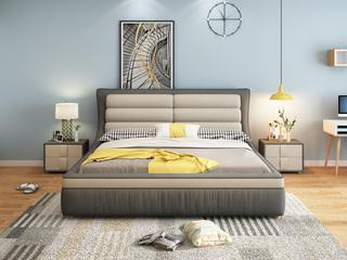 皮坊工艺 布艺系列床1.8米