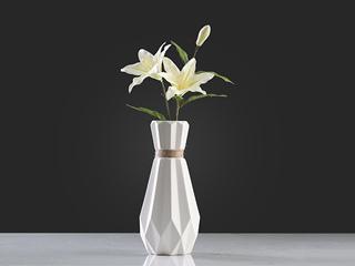 北欧折纸麻绳花瓶高29CM宽13CM