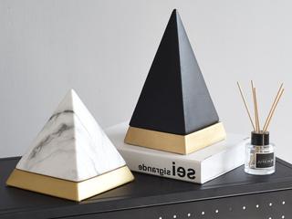 赢枝家居 陶瓷两件套轻奢金字塔摆件(包邮)