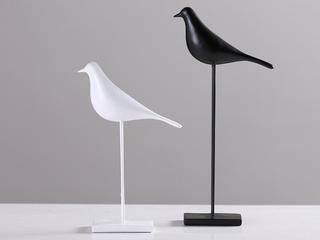 赢枝家居 树脂两件套黑色高鸟 白色低鸟(包邮)