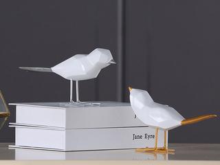 赢枝家居 树脂两件套小鸟摆件(包邮)