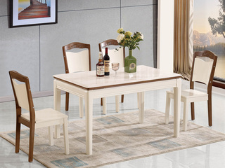 华辉 现代简约  大理石 1.3米餐桌