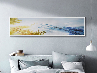 赢枝家居 现代简约简约白边框外框环保PS材质+高清微喷油画布 装饰字画(包邮)