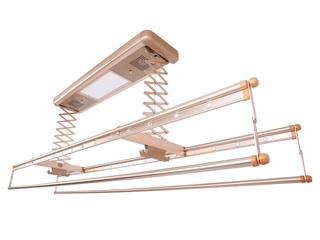 卫欲无限 【包邮 送货到楼下(偏远地区除外)】 620自然风干+紫外线消毒+LED照明多功能晾衣架 土豪金 固定晾晒架