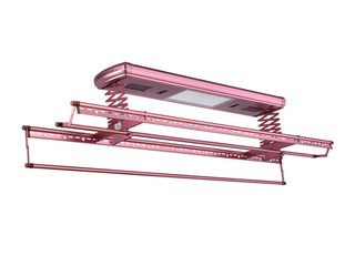 【包邮 送货到楼下(偏远地区除外)】 622H热风烘干+紫外线消毒+LED照明 多功能晾衣架 玫瑰金 固定晾晒架