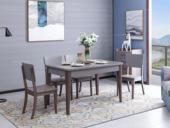 家百利 现代简约1.3米钢化玻璃餐桌