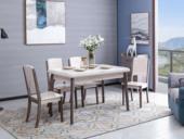 家百利 现代简约1.3米大理石餐桌