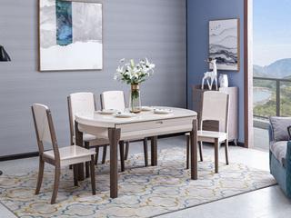 家百利 现代简约 钢化玻璃 圆餐桌