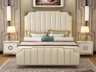 舒纤 艾伦016轻奢意大利进口二层牛皮1.8*2.0米高箱床