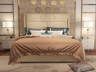 舒纤 艾斯015轻奢意大利进口二层牛皮1.8*2.0米高箱床