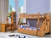 汉鼎 子母床1.5m 榉木色(含踏步梯)