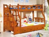 汉鼎 挂梯子母床1.5m 柚木色