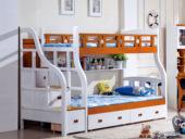 汉鼎 挂梯子母床1.5m 地中海蓝色  不含书架,书架选配