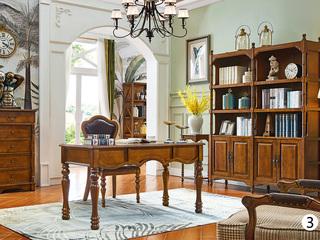 维格兰 美式书柜 四门书柜