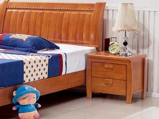 汉鼎 儿童床床头柜 柚木色
