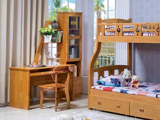 汉鼎 榉木色连体书柜