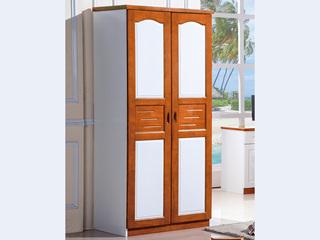 汉鼎 地中海蓝色二门对开衣柜