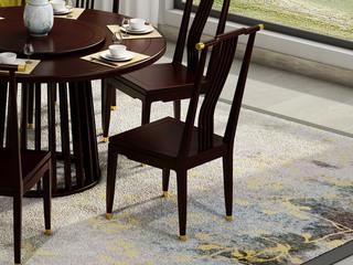 邦美森 金丝檀木实木 栏栅式设计 新中式餐椅