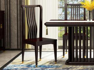 邦美森 金丝檀木实木 新中式无扶手餐椅 实木餐椅