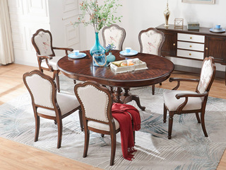 邦美森 现代美式圆餐桌(C款)