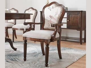 邦美森 现代美式有扶手餐椅(E款)