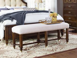 邦美森 现代美式床尾凳