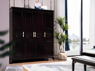 柏莎贝尔 新中式系列四门衣柜