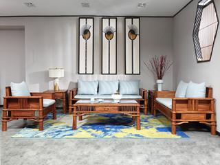合盛佐罗 新中式 南美花梨木常乐沙发