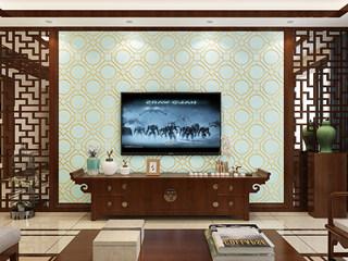 帕力美 【包邮】简约卧室书房客厅电视背景 鹿皮绒墙纸