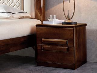 意式极简风格  印尼胡桃木 床头柜