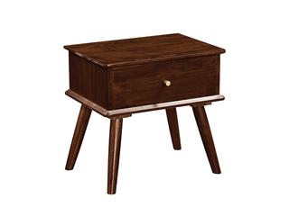 意式极简风格  印尼胡桃木床头柜