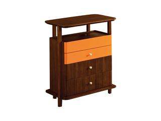 意式极简风格  印尼胡桃木斗柜