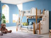 榕瀚 地中海实木儿童床501# 1.35m组合床(不含梯柜和拉床)
