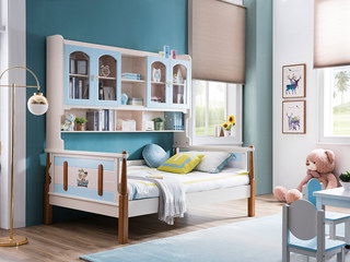 地中海实木儿童床506# 1.5米功能床