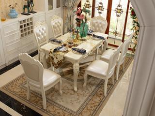 朗锐 8223 餐桌大理石1.3米长方形餐桌