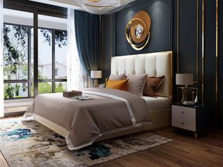慕梵希 轻奢豪华版米白色 高端纳帕皮 北美进口落叶松坚固框架 C10床
