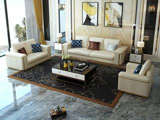 慕梵希 轻奢 (1+2+3) 米白色 优质头层黄牛皮  北美进口落叶松框架 C03沙发组合