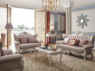 柏莎贝尔 苔丝系列 简欧风格 沙发可以拆靠背 精致皮艺沙发 不规则人体学背靠 沙发组合(1+2+3)