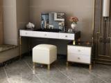 慕梵希 轻奢 黑白不锈钢镀金  C02梳妆台