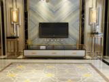 慕梵希 轻奢 黑白不锈钢镀金 钢化玻璃C04电视柜