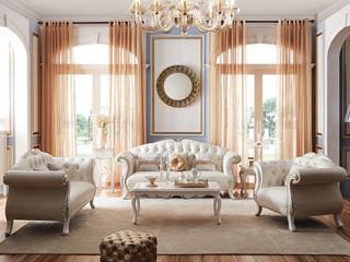 柏莎贝尔 苔丝系列 简欧风格 精致皮艺沙发 舒适手感 高贵品格 沙发组合(1+2+3)