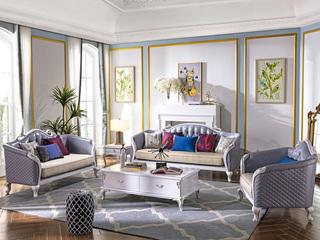柏莎贝尔 苔丝系列 简欧风格  珍珠白皮艺沙发 人体工程学背靠 沙发组合(1+2+3)