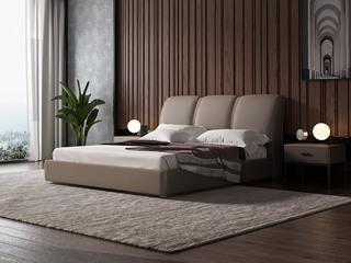 诺美帝斯 意式极简C30B床皮款 1.8*2.0米样色皮艺床