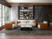 诺美帝斯 意式极简T18沙发 仿真皮橘+白皮艺沙发组合 1+2+3