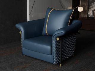 意式极简T28沙发 纳帕皮样色皮艺单人沙发