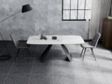 诺美帝斯 意式极简大理石餐桌 T1004白色1.6米长方形餐桌