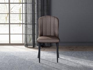 诺美帝斯 意式极简餐椅 H1007深咖餐椅