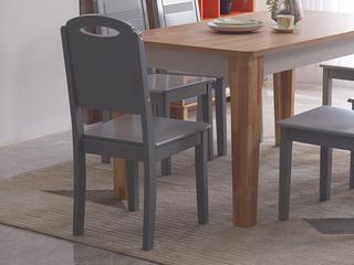 喔木居 现代极简卡姆系列 经典原木色餐椅